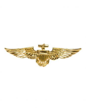 Gold Shiny pilots badge