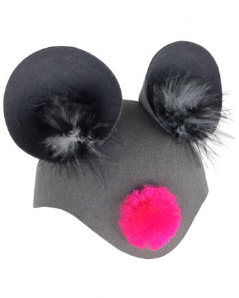 Animal cap mouse with pink nose