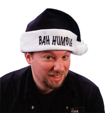 Humbug Black Santa Hat