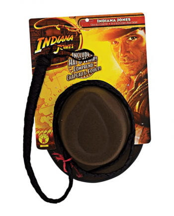 Indiana Jones hat and whip Set