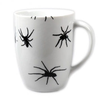 Coffee Mug with Spiders