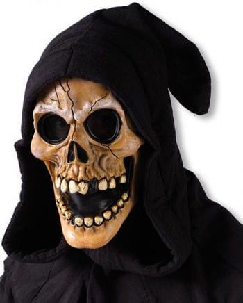 Kapuzen Schädel Maske beige