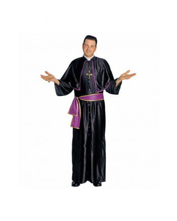 Kardinal Kostüm Schwarz Violett S