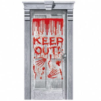 Keep Out Bloody Door Decoration