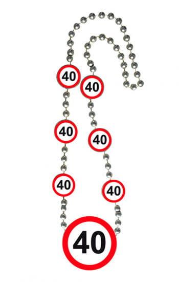 Chain traffic sign 40