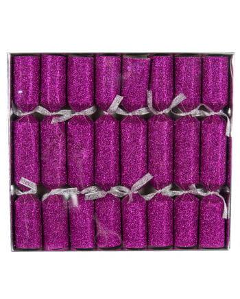 Crackers glitter effect Pink 8 St.