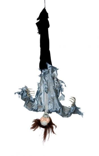 Kopfüberhängendes, grabschendes Skelett