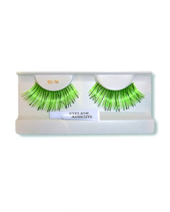 Echthaar-Wimpern grün