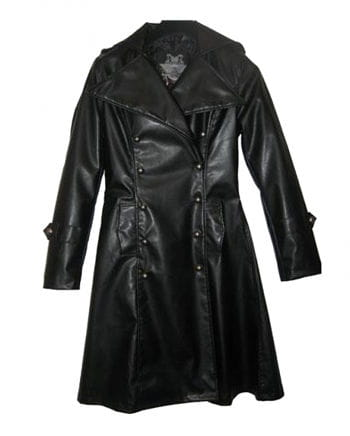 Imitation Leather Uniform Coat S