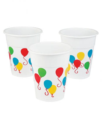 25 Plastic Cup With Balloon Motif 0,5l