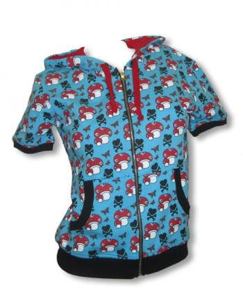 Short sleeve hoodie blue XL / 42