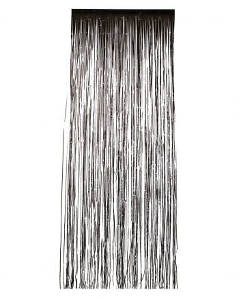 Tinsel curtain black
