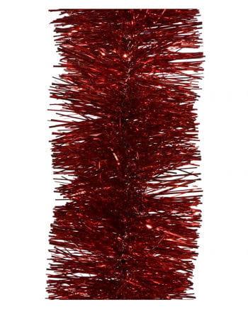 Lametta-Girlande - Weihnachtsrot 2,7m