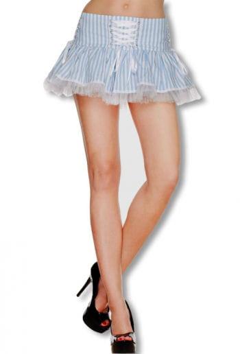 Laura White Blue Mini Skirt
