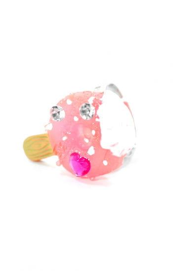 Kinder Schmuckring Himbeer-Eis