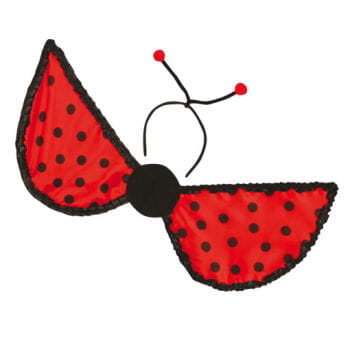 Ladybird Wings with Antennae Head Boppers