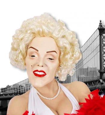 Marilyn Schaumlatexmaske mit Perücke