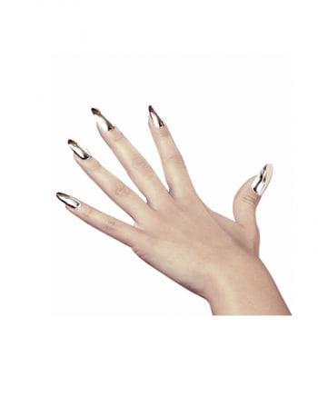 Metallic Fingernägel silber