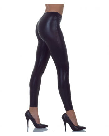 Metallic Leggings Black