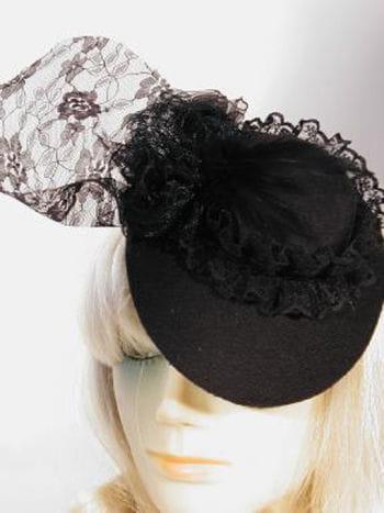 Mini Chapeau Hut Schwarz