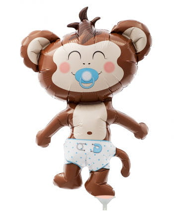 Mini foil balloon Baby Boy monkeys
