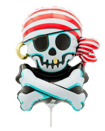 Mini foil balloon Jolly Roger