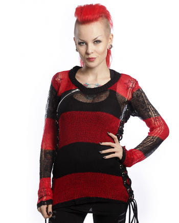 Miss Krueger sweater black and red