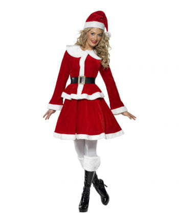 Miss Santa Costume with Muff XL