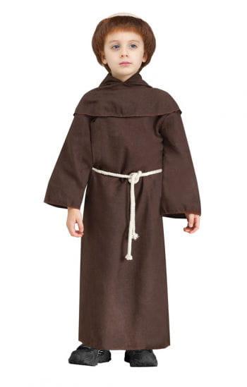 Mönch Kinderkostüm XL mit Perücke