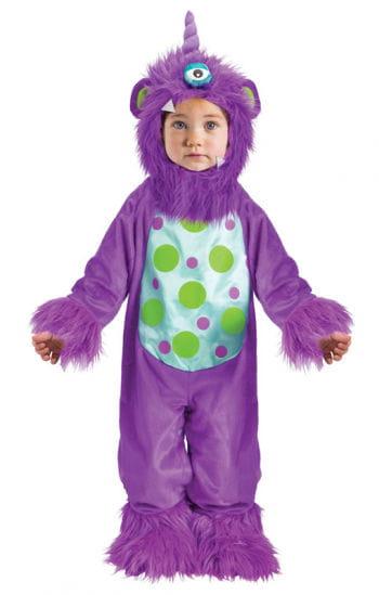 Lila Monster Babykostüm für Halloween & Karneval