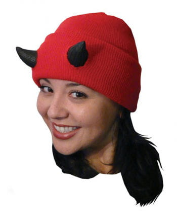 Halloween Beanie with devil horns