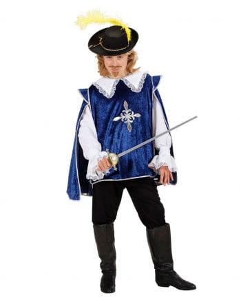 Musketier Kinderkostüm blau L