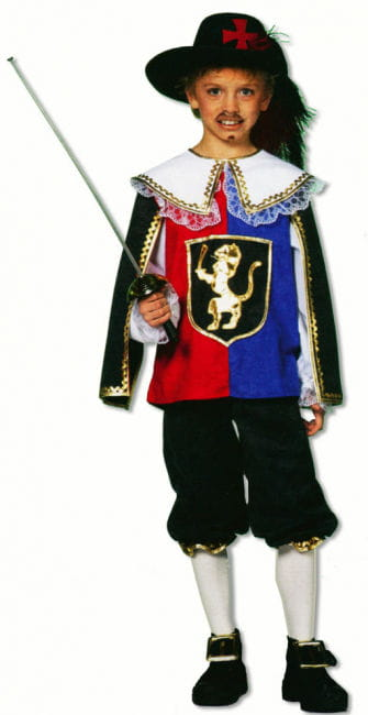 Musketeer Child Costume Deluxe XS