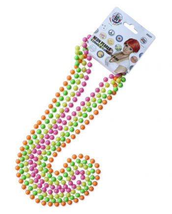 4 Neonfarbene Perlenketten
