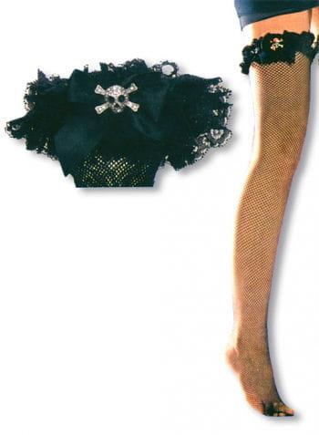 Fishnet Stockings with Skull