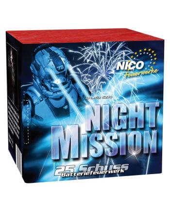 Night Mission Batteriefeuerwerk 25 Schuss