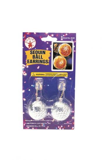 Sequin ball earrings silver