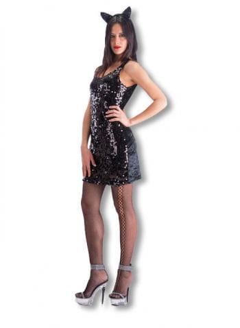 Sequins Mini Dress Black