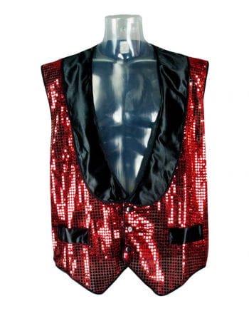 Sequined vest red