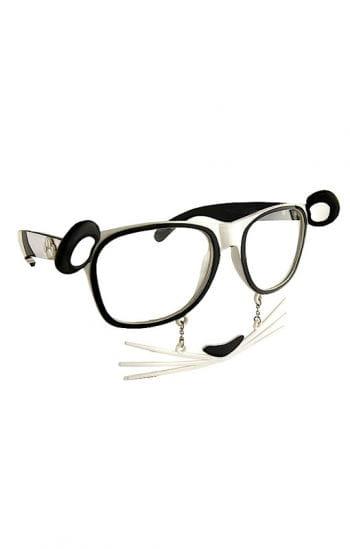 Panda Bär Brille mit Schnurrhaaren