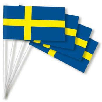 Papierfähnchen Schweden 50 Stück