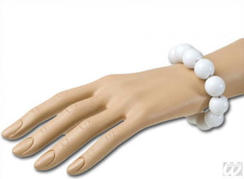 Beaded Bracelet White