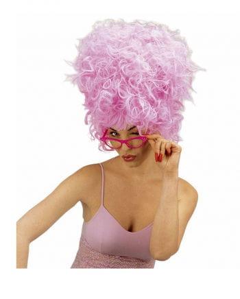 Glasses 60s retro look pink