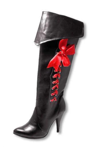 Piraten Stiefel mit roter Schleife