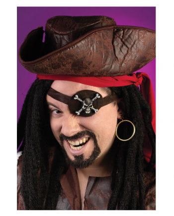 Piraten Augenklappe und Ohrring