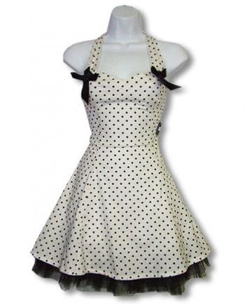 Polka dot dress and white L / 40