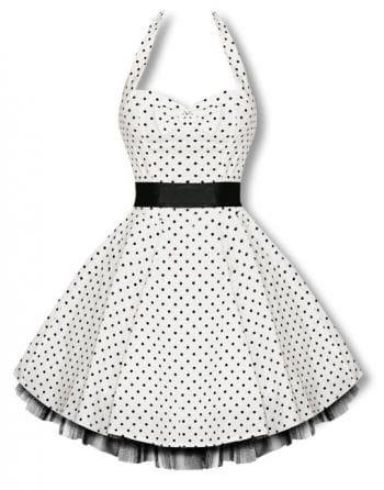 Halter polka dot dress in black and white