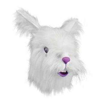 Premium Hasen Maske mit Kunstfell