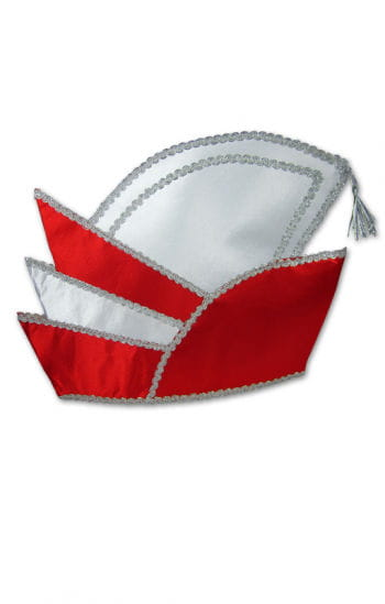 Prinzenmütze rot/weiß