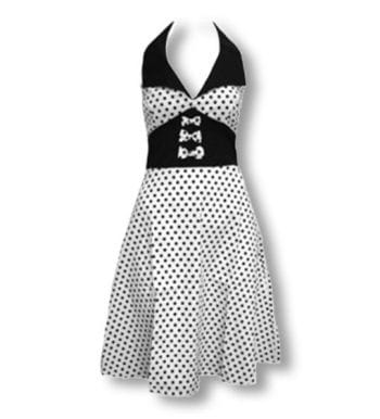 Dot dress white black